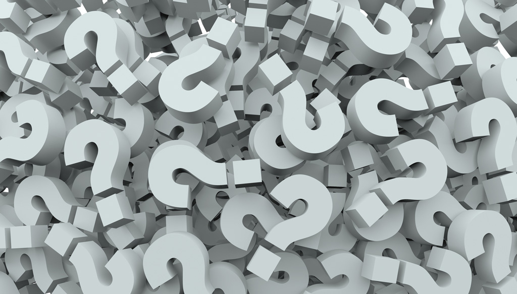 A background of question mark signs and symbols to illustrate le